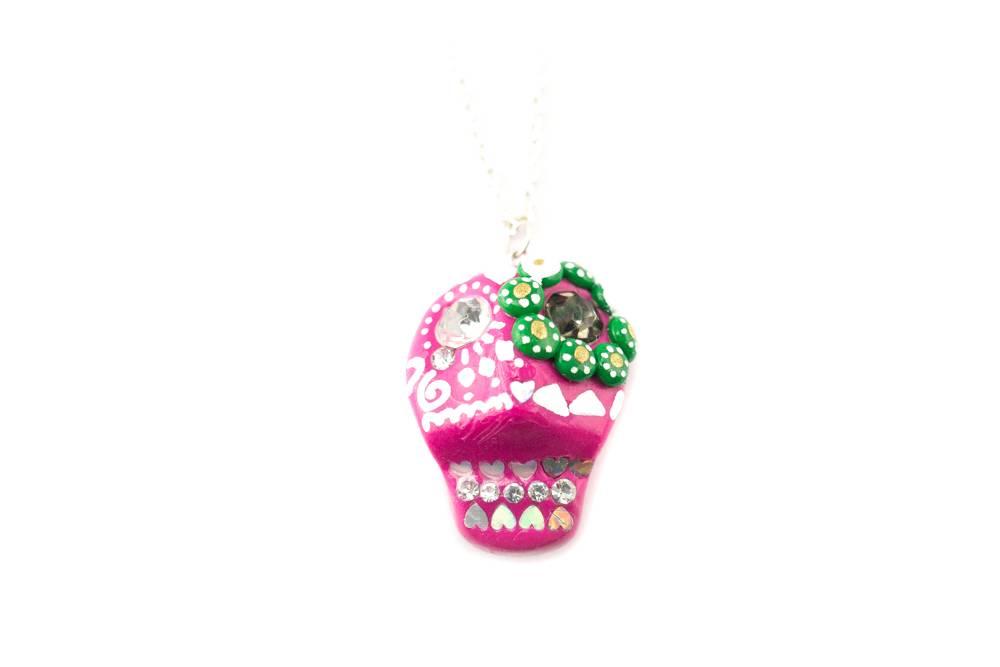 "Cute Clay ""Pink Skull"" - Kette"