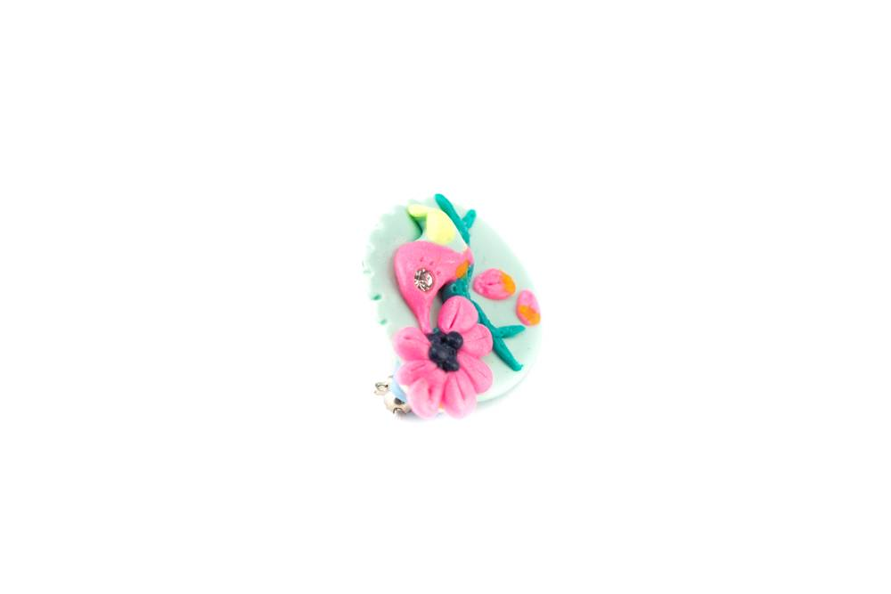 "Cute Clay ""Kolibri""-Brosche"