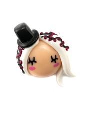 """Cute Clay """"Rockabilly Püppchen"""" - Brosche"""