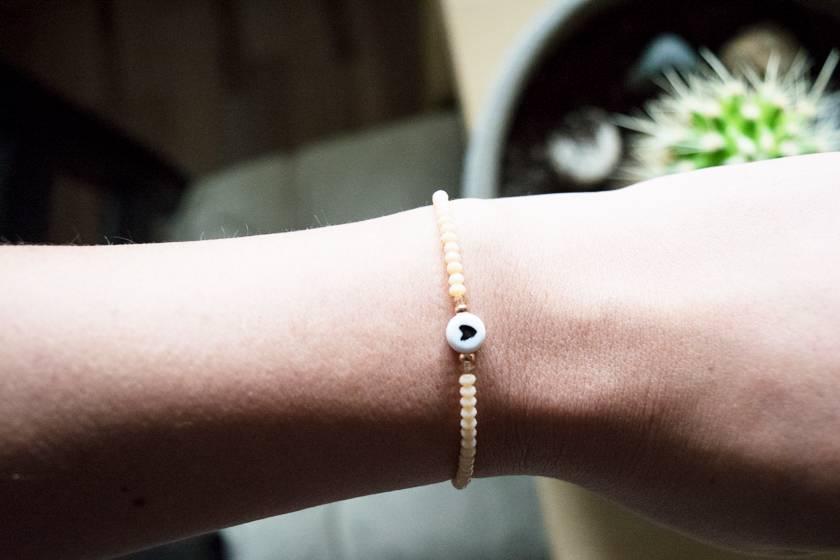 """Cute Clay """"Rosé Heart Mini'"""" - Armband"""