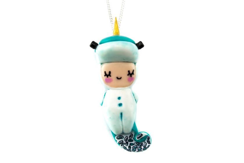 """Cute Clay """"Einhornpyjama-Püppchen"""" - Kette"""