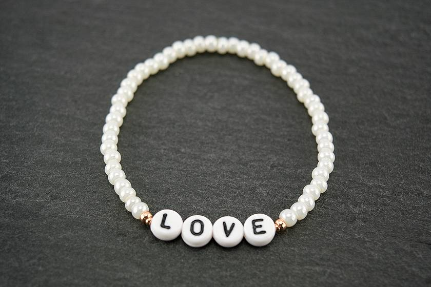 """Cute Clay """"Dein Wunschname oder Wort""""-Armband"""