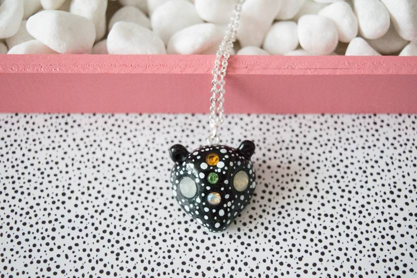 "Cute Clay ""Bear with stars"" - Kette"