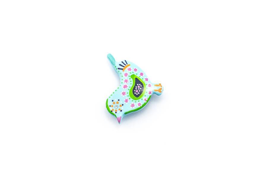 "Cute Clay ""Pastell-Vögelchen IV"" - Magnet"