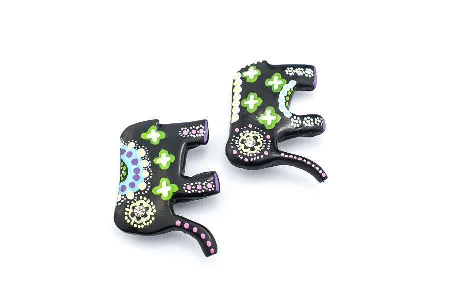 """Cute Clay """"Indische Elefanten"""" - 2 Magneten"""
