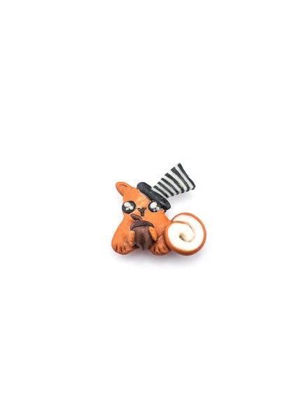 """Cute Clay """"Mr. Hörnchen mit Nuss"""" - Magnet"""