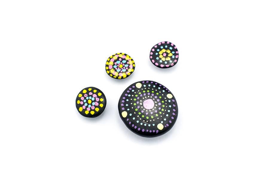 "Cute Clay ""Zen"" - 4 Magneten"