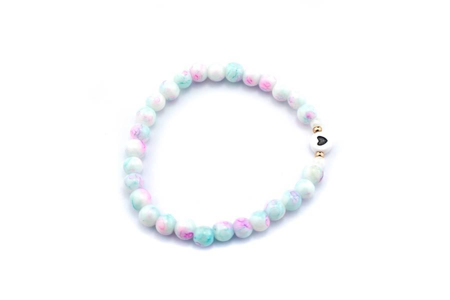 "Cute Clay ""Marble Heart"" - Armband"