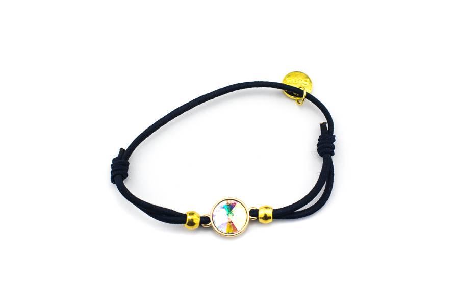 """Cute Clay """"Crystal Diamond"""" - Armband dunkelblau/schwarz"""