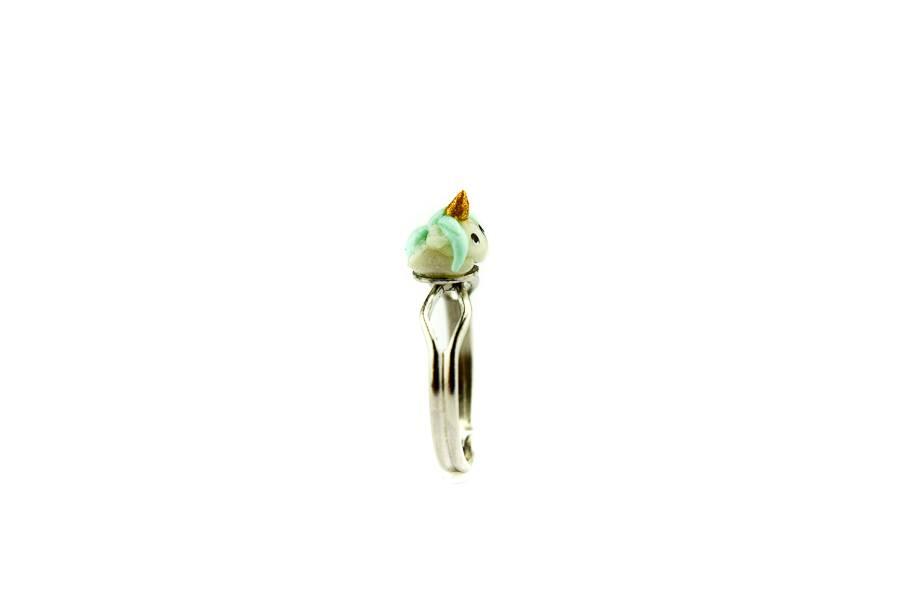"""Cute Clay """"Einhorn Blue Puff"""" - Ring"""
