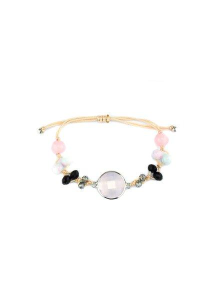 """Cute Clay """"Peach & Pink""""-Armband"""