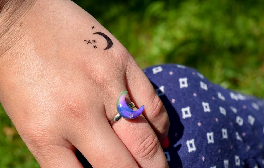 "Cute Clay ""Galaxy Moon"" - Ring"