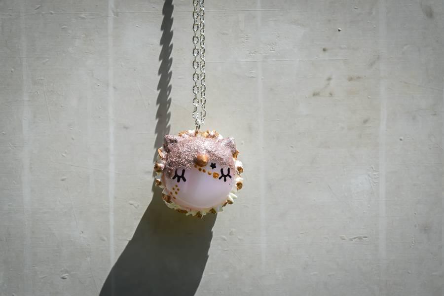 """Cute Clay """"Sternenstaub-Einhorn-Macaron"""" - Kette"""