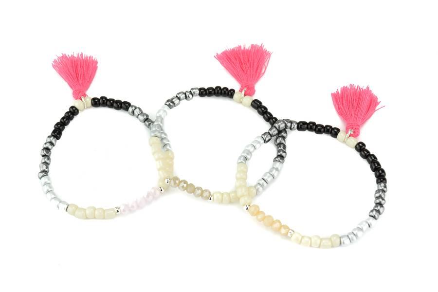 """Cute Clay Set """"Color Gradient""""- 3 Armbänder"""