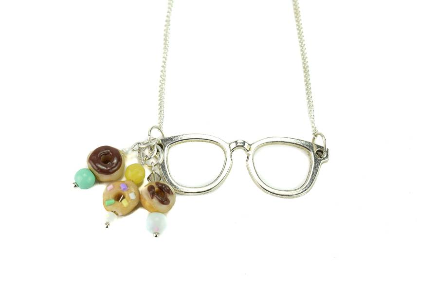 "Cute Clay ""Donut Glasses"" - Kette"