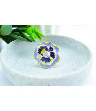 "Cute Clay ""Pansy"" - Ring - Stiefmütterchen Ring"