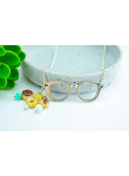 "Cute Clay ""Donut Glasses"" - Kette"