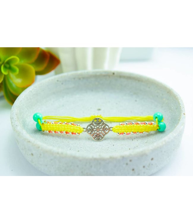 "Cute Clay ""Indigo yellow"" - Armband"