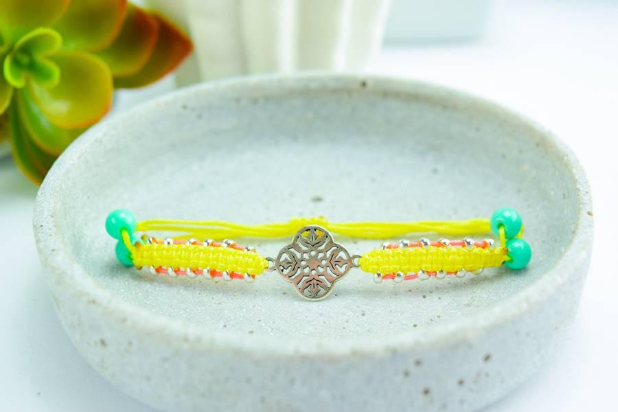"Cute Clay ""Indigo yellow""-Armband"