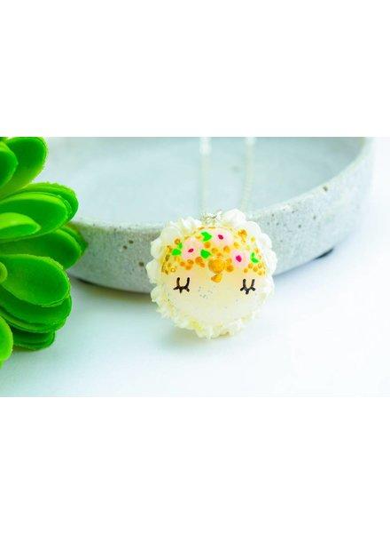 """Cute Clay """"Blumenkind-Einhorn-Macaron"""" - Kette"""