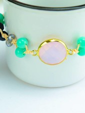 "Cute Clay ""Peach & Gold Pink""-Armband"