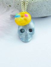 """Cute Clay """"Dr. Tod mit Donuthut"""" - Kette"""