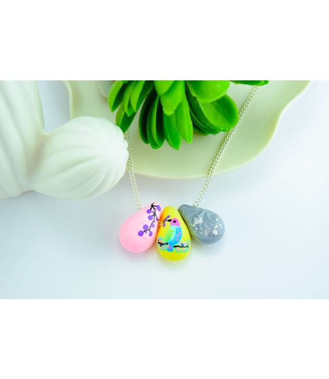"Cute Clay ""Painted Bird"" - Kette"