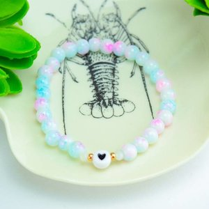 "Cute Clay ""Marble Heart"" - Armband"