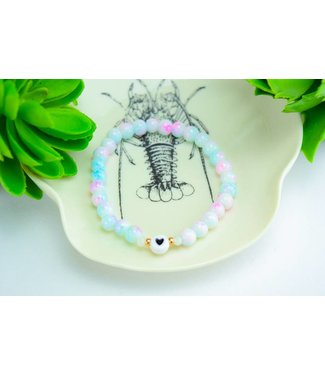 "Cute Clay ""Marble Heart"" - Perlenarmband"