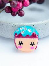 """Cute Clay """"Fashion Püppchen"""" - Brosche"""