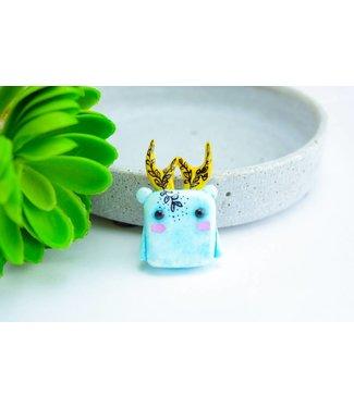 "Cute Clay ""Marshmallow-Bär mit Geweih"" - Magnet"