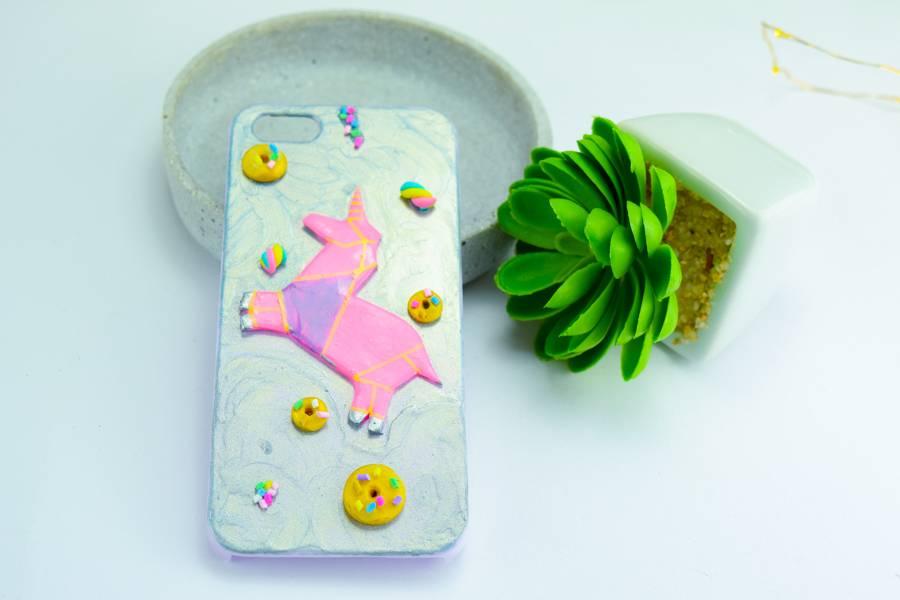 "Cute Clay ""Origami-Einhorn pastelllila"" - iPhone 5-Handycover"