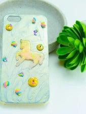 "Cute Clay ""Einhorn pastellgelb"" - iPhone 5-Handycover"