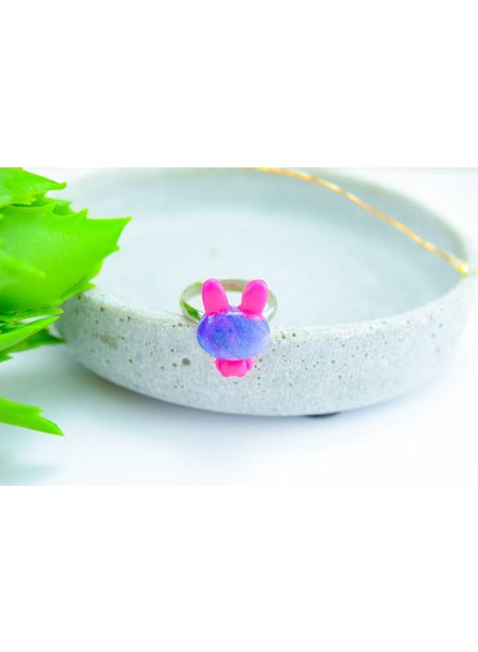 "Cute Clay ""Galaxy-Hase"" - Ring"