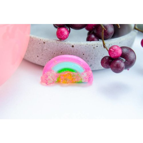 "Cute Clay ""Rainbow with sugar Three"" - Brosche"