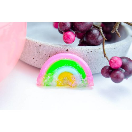"Cute Clay ""Rainbow with sugar Two""-Brosche"