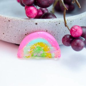 "Cute Clay ""Rainbow with sugar One"" - Brosche"