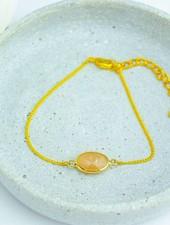 "Cute Clay ""Oranger Halbedelstein"" - Armband"