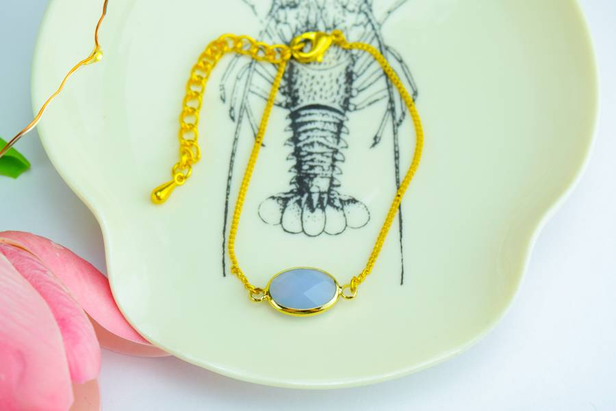 "Cute Clay ""Blauer Halbedelstein"" - Armband"