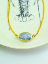 """Cute Clay """"Blauer Kristall"""" - Armband"""