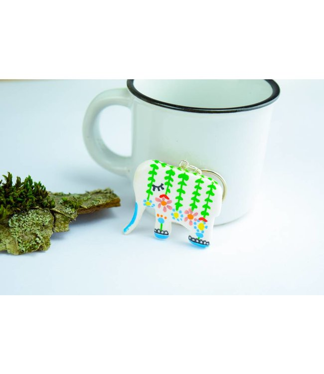 Elefant - Schlüsselanhänger I Handgemachter Schlüsselanhänger - Cute ...