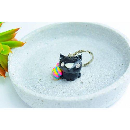 "Cute Clay ""Rainbow Fox II"" - Schlüsselanhänger"