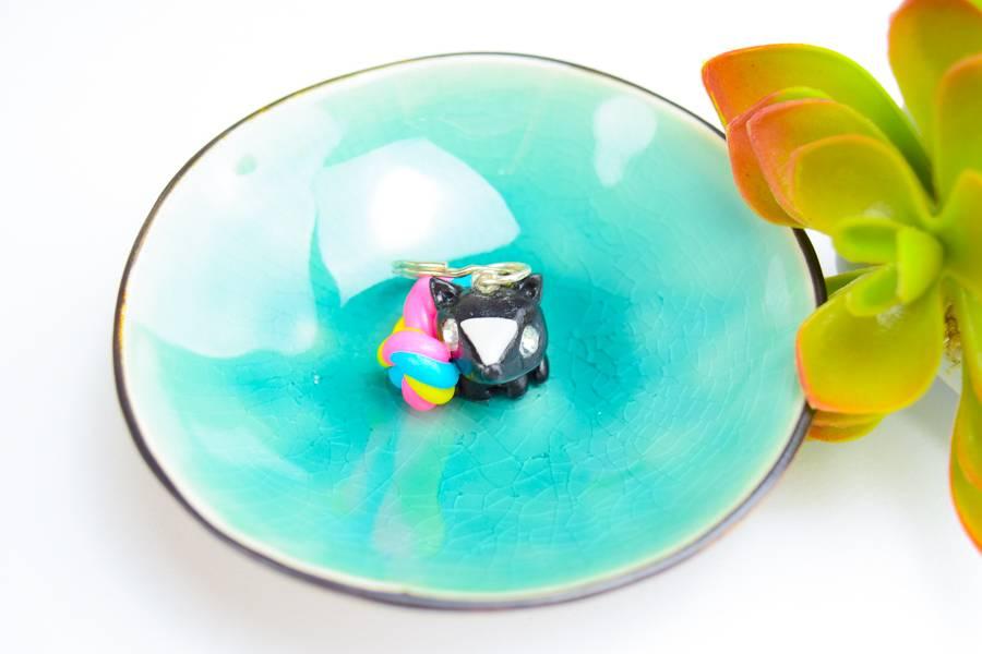 "Cute Clay ""Rainbow Fox"" - Schlüsselanhänger"