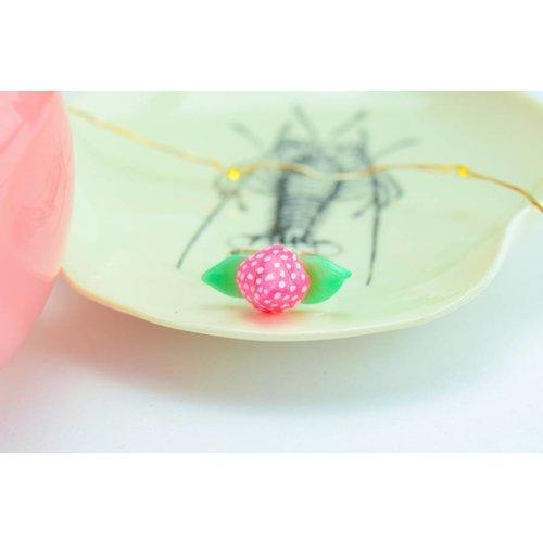 """Cute Clay """"Erdbeer"""" - Ring"""