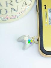 """Cute Clay """"Controller grey""""-Dust Stopper & Schlüsselanhänger"""