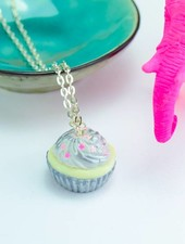 "Cute Clay ""Sternchen-Cupcake"" silber - Kette"