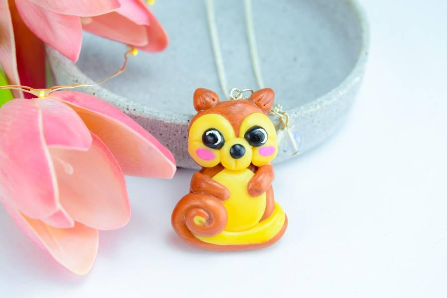 "Cute Clay ""Big Squirrel"" - Kette"