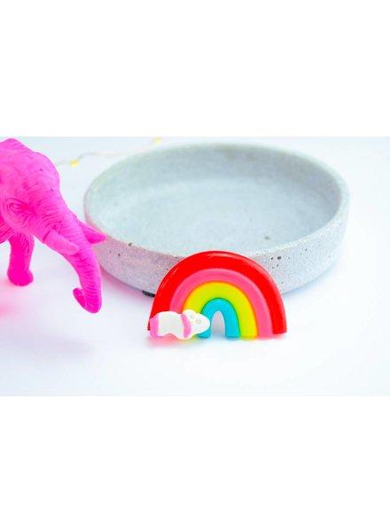 "Cute Clay ""Regenbogen mit Pony"" - Magnet"