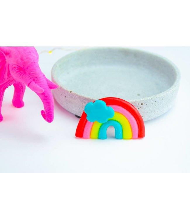 "Cute Clay ""Regenbogen mit Wolke"" - Magnet"