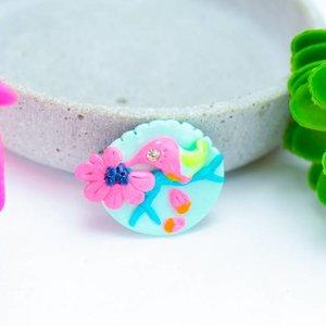 "Cute Clay ""Kolibri"" - Brosche"